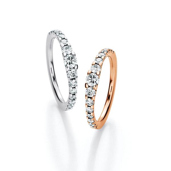 diamantringe mit verschiedenen Diamantgrößen im verlauf