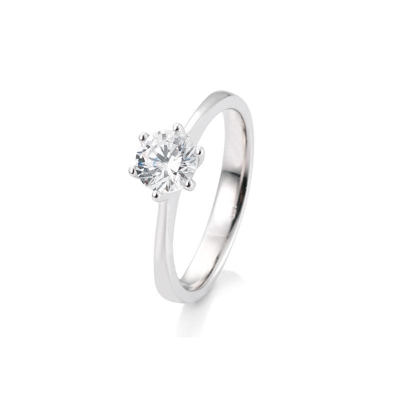 der bekannteste verlobungsring der welt! Diamantring mit 6er krappen schmal zum Brillanten zulaufend